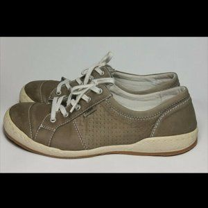 Josef Seibel US 9 9.5 EU 40 Leather Sneakers Taupe